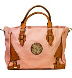 HandPicked: Pink and Tan Medallion Purse