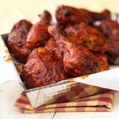 Country meets city in this barbecue sauce recipe that's perfect to serve at any outdoor party. Get the recipe: http://www.recipe.com/finger-lickin-barbecue-chicken/?socsrc=recpin040412bbqchicken