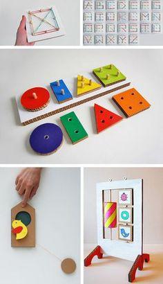 Juguetes educativos de cartón en Juguetes y juegos para bebes, niños y niñas