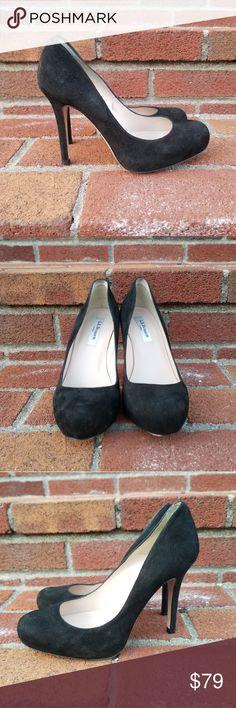 LK Bennett Black Suede Pumps Black suede LK Bennet pumps with a small platform. Size 38 EU; fit like a 7.5 US. See photos for wear. LK Bennett Shoes Heels