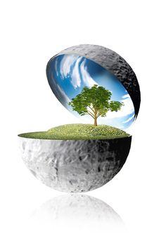 Save The Planet . Save The Planet, Decorative Bowls, Planets, Concrete, Celestial, Building, Green, Outdoor, Home Decor