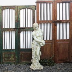 Restored Indian Garden Gates, made from Teak and Iron. Support ethical and sustainable trade. Exterior Doors, Interior And Exterior, Rustic Exterior, Rustic Furniture, Vintage Furniture, Indoor Outdoor Living, Outdoor Decor, Sacred Garden, Indian Garden