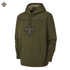 info for 9aaa7 9a721 NEW Nike 2018 NFL Salute to Service New Orleans Saints Therma PO Hoodie  Limited Salute The