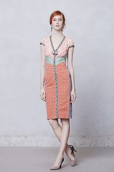 Lasercut Springtime Sheath #anthropologie