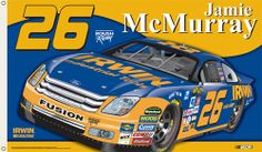 Jamie McMurray McMURRAY NATION Giant 3'x5' NASCAR Flag - #26 Rousch Racing Irwin Tools Ford Fusion - available at www.sportsposterwarehouse.com