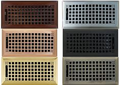 MISSION FLOOR AND WALL REGISTERS House Vents, Wall Vent Covers, Air Return, Wall Clips, Home Renovation, Home Appliances, Air Vent, Flooring, Steel