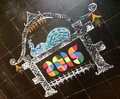 New year rangoli by jaya mohan