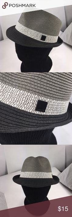 New two toned fedora Two toned Paper straw fedora. One size fits most ( head circumference is about 57cm ) The Hatter Company Accessories Hats