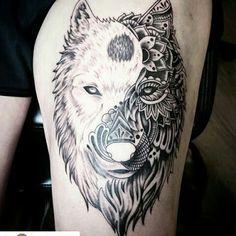 New tattoo designs wolf yin yang Ideas Wolf Tattoos, Yin Yang Tattoos, Animal Tattoos, Celtic Tattoos, Arrow Tattoo, Tattoo Outline, Tatoo Art, Trendy Tattoos, Sexy Tattoos