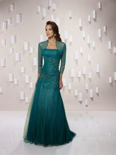 Gorgeous sea green maxi with di lines of embroidery -- Morgona dress