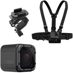 GoPro - Ski Bundle - HERO5 Session 4K Action Camera with Chest Mount Harness and Handlebar Mount