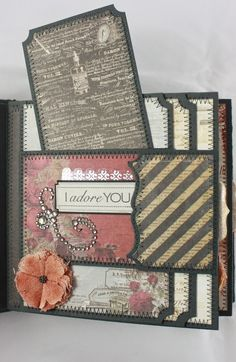"Hi! I'm back again with a new 6x6 mini-album to share using Prima's ""Stationer's Desk"". I purchased these 6x6 paper pads about 6 mon..."