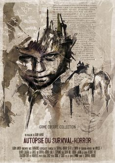 French illustrator Florian Nicolle layers ink, paper, paint and some subtle Photoshop editing to create these wonderfully messy images.