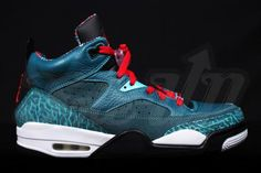 NIKE AIR JORDAN SON OF LOW DARK SEA/GYM RED-BLACK-WHITE-GAMMA BLUE #sneaker