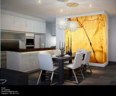 Stone Interior, Interior Walls, Interior Design, Stone Feature Wall, Luxury Kitchen Design, Luxury Decor, Modern Wall Decor, Dining Room Design, Home Decor Inspiration