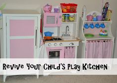 In Lieu of Preschool: 5 Tips for Setting up a Play Kitchen or Reviving One You Already Have