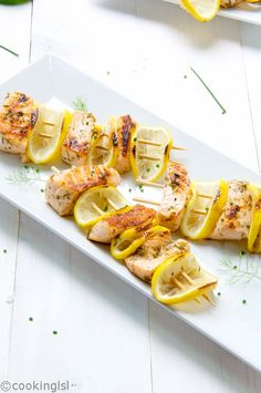 Grilled Salmon Kebabs - simple ingredients, incredible flavor, easy to cook. Grilling Recipes, Cooking Recipes, Healthy Recipes, Bbq Meals, Healthy Appetizers, Healthy Dinners, Delicious Recipes, Healthy Foods, Keto Recipes