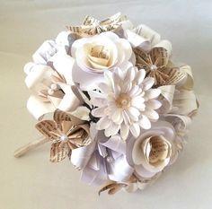 Paper Flowers Origami Bouquet Wedding Bridal от LilyBelleKeepsakes