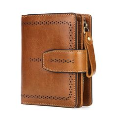 AOEO Ladies Genuine Leather Wallet Female Separate Coin Purse Hollow Out Calfskin Mini Money Bag Vintage Wallets Women Purses Vintage Cowgirl, Leather Clutch Bags, Leather Bifold Wallet, Leather Wallets, Cow Leather, Cowhide Leather, Aluminum Wallet, Coin Bag, Womens Purses
