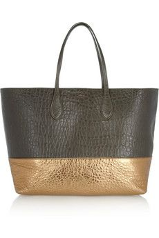Rochas Two-tone textured-leather shopper | NET-A-PORTER