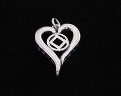Sterling Silver Narcotics Anonymous 3D Heart NA Symbol 12 Step Recovery Jewelry | eBay