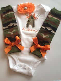 Baby Girl CAMO Hunting outfit on Etsy, $42.00