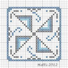Part 3 Delft Tile Stitch-Along, 2012
