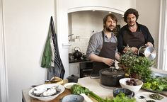 Jay Rayner; writer and food critic with some Danish guy ;)