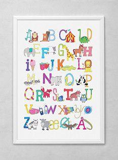 Weidich ABC plakat til børneværelset www.notethis.dk
