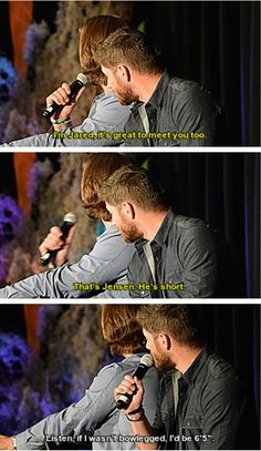 LOL. But you know we adore those bow-legs Jensen!!! :)
