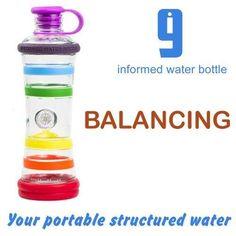 Bottiglie fantastiche anche da viaggio che hanno la caratteristica di informare e attivare l'acqua con tutti i colori dei chakra