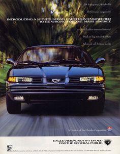 1992 Eagle Vision ad.