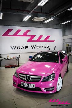 Pink+Mercedes+C-Class+Coupe | Keep The Glamour ♡ ✤ LadyLuxury ✤