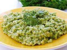 Israeli couscous with kale pesto/ Cuș-cuș israelian cu pesto de kale