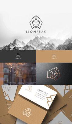 Corporate Design Logo presentation design for lion peak. Gfx Design, Design Logo, Modern Logo Design, Brand Identity Design, Logo Design Services, Identity Branding, Menu Design, Corporate Identity, Visual Identity
