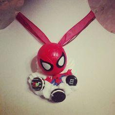 Spiderman Decoden Necklace Kawaii Whipped Cream and Candy Desserts Chocolate