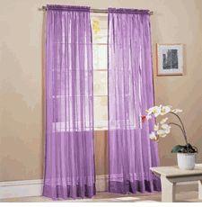 Solid Bright Sheers (Pair) Purple