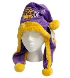 Los Angeles Lakers Dangle Hat by Hall of Fame Memorabilia. $39.95. Make your fashion statement with this unique cold weather dangle hat! Features your teamÆs colors and logos. Officially licensed and made of 100% polyester material. One size fits all.Images shown may differ from the actual product.