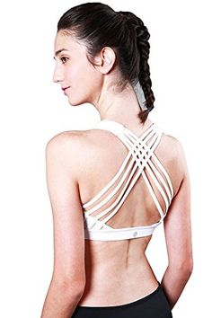 e411c85a9b0 FasterS Womens Medium Support Strappy Back Energy Sport Bra Cotton Feel      BEST VALUE BUY on Amazon  StrappyBralette