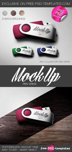 Free Pen Drive Mock-up on Behance