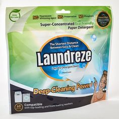 7 Brilliant, Life-Simplifying Items That Just Launched at Amazon—All Under $40 | Infuse your laundry with the gentle smell of coconut with these hypoallergenic, eco-friendly laundry detergent sheets that are preservative-free and safely decompose in your washer. They clean your clothes and remove stains, plus they help your clothes last longer. #realsimple #lifestylehacks #lifetips #lifehacks #tipsandtricks #shoppinghacks Cleaning Hacks, Deep Cleaning, Eco Friendly Laundry Detergent, Eco Label, Paint Storage, Laundry Hacks, Food Waste, Real Simple, Shopping Hacks