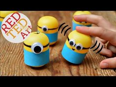 Minion Crafts Make Wobbly Minion Weebles from Plastic Eggs or Kindersurprise Capsules - YouTube