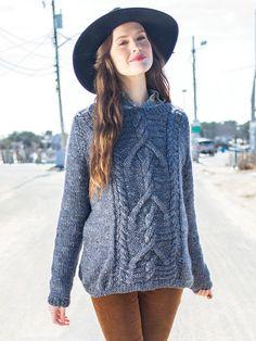 NobleKnits.com - Berroco Inca Tweed Wicklow Cable Sweater Pattern 346 PDF, $7.95 (http://www.nobleknits.com/berroco-inca-tweed-wicklow-cable-sweater-pattern-346-pdf/)