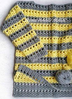 Crochet Blouse 78991 let's get back to school quietly - La Grenouille Tricote Pull Crochet, Gilet Crochet, Crochet Cardigan, Knit Crochet, Crochet Vests, Knit Vest Pattern, Crochet Poncho Patterns, Free Knitting Patterns For Women, Crochet Woman