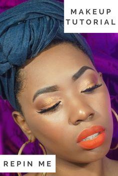 Gold Eyeshadow Makeup Look Makeup Tutorial. Glitter Cut Crease Makeup Tutorial. How to cut Crease . How to use glitter makeup. Eyeshadow Looks. Makeup Ideas. Makeup Inspiration . Eyeshadow Looks. Makeup For Black Women. Makeup Tutorial For Black women. Makeup for beginners . Glitter eye makeup. Drugstore Makeup . Affordable Makeup tutorial