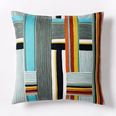 Wallace Sewell Kente Crewel Pillow Cover | west elm