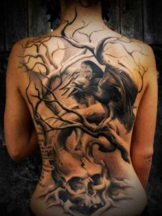 tree with birds and moon tattoo - Yahoo Image Search Results