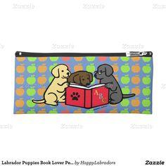 Labrador Puppies Book Lover Pencil Case