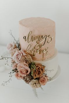 Blush Wedding Cakes, Blush Wedding Colors, Elegant Wedding Cakes, Beautiful Wedding Cakes, Wedding Cake Designs, Beautiful Cakes, Blush Weddings, Anniversary Cake Designs, 25 Wedding Anniversary Cakes
