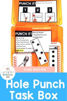 Simple fine motor centers are a great way to add fine motor activities in a structured way. Some great fine motor center themes include trace it, poke it, slice it, tong it, chop it, and more. These differentiated centers are perfect for Foundations or Year 1, 2, 3, 4, or 5 students - plus middle and high school students. #FineMotorCenters are a great way to keep your #SpecialEducation students engaged and having fun while learning! #FineMotorActivities #FineMotor